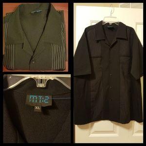 Men's black button down casual shirt